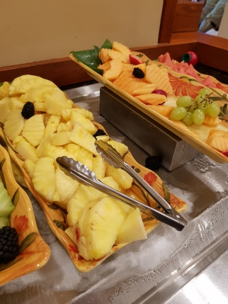 Great fruit selection at the buffet breakfast