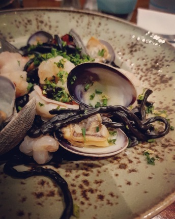 Squid Ink Seafood Linguine